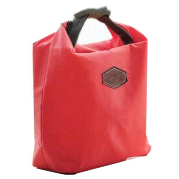 Thermal Cooler Insulated Waterproof Handbags Lunch Carry Storage Picnic Bag Pouch lunch box bag Red (Intl) - intl