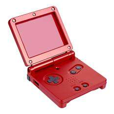 Full Housing Shell Case Cover Kit Replacement Part Set For Game Boy Advance SP # Red