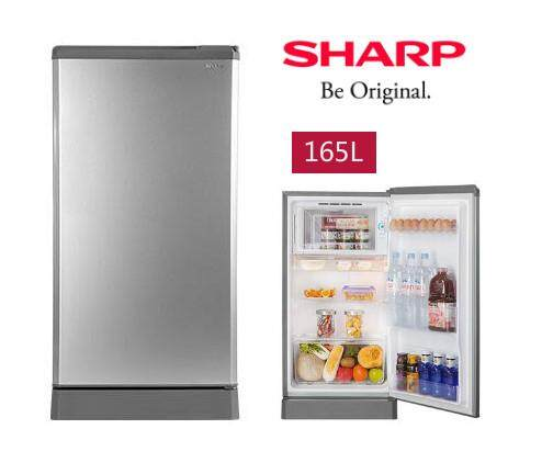 New : Sharp 1 Door Fridge SJD186MSL With Extra Big Freezer Compartment