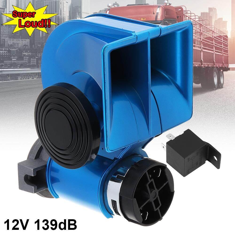 Glossy Biru Siput Kompak Dual Bel Udara 12 V 139DB untuk Kendaraan Mobil Sepeda Motor Yacht Perahu SUV