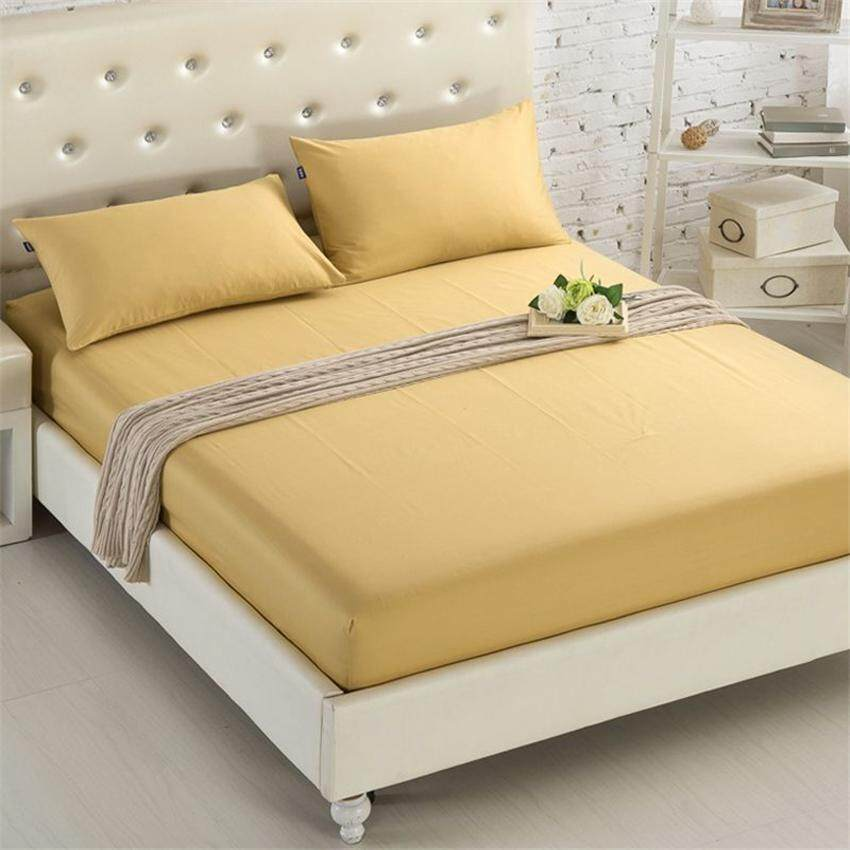 รีวิว TTLIFE 1 PC Polyester Super Soft Solid Color Fitted Sheet Mattress Cover Bedding Cover Color as Picture Shown Color family : น้ำเงินเทา ขนาดเตียง : Twin