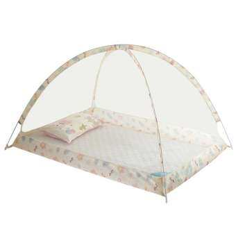 Fancytoy Foldable Baby Bed Portable Folding Crib Mosquito Net Safe Mesh-