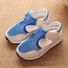 Kids Girl Boy Sport Shoes Toddler Baby Breathable Walking Children Sandals New blue