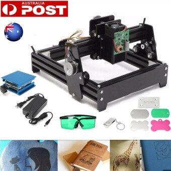 12W Desktop CNC Laser Engraving Machine Engraver Cutter DIY For Metal Stone Wood
