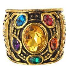 Fancyqube Avengers 3 Thanos Vô Cực Găng Tay Gù Nhẫn Pha Lê Lắp Kim Loại Vàng Ngón Tay Nhẫn Nam Điện Nhẫn Trang Sức