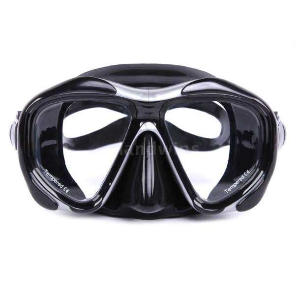 Men's Women's Anti-fog Diving Snorkeling Mask Two-window Scuba Diving Mask Swim Goggles Swimming Mask Tempered Glass Lens Flexible Silicone Skirt PC Frame Adults