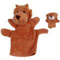 GDS 2 PCS Parent-Child Plush Finger Puppet Lion Dolls Brown