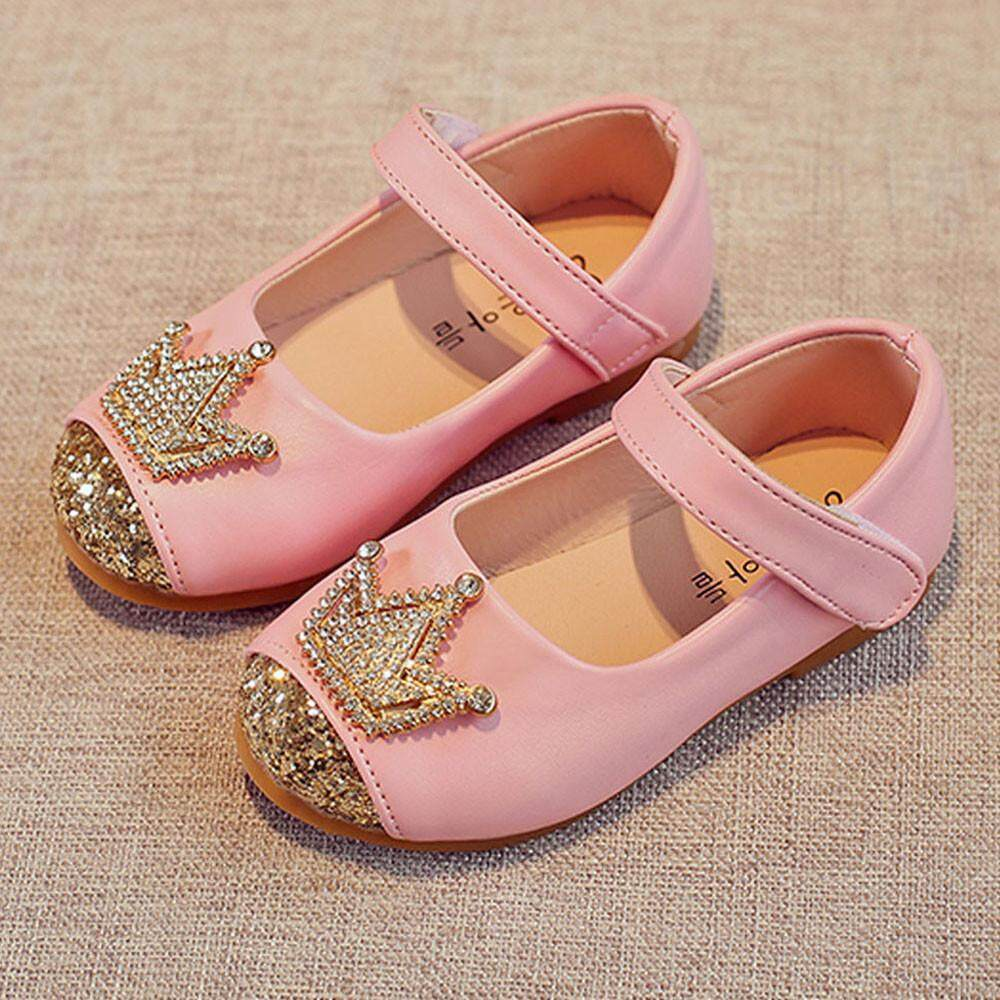 RADOCIE Toddler Kids Girls Baby Beading Princess Crown Sandals Single Shoes