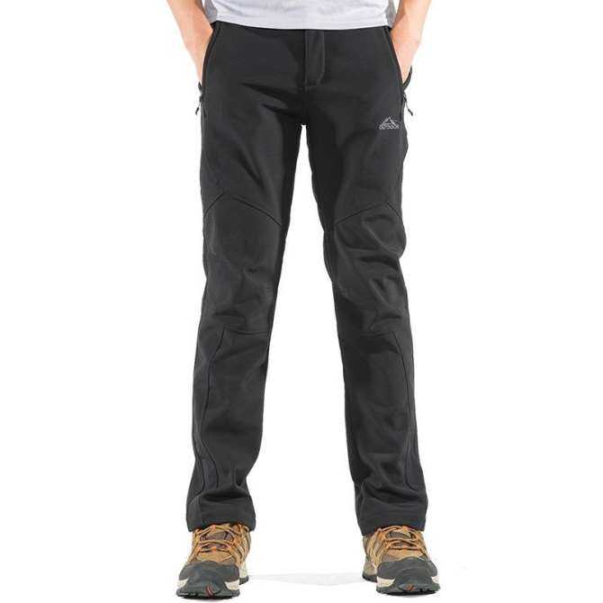Mens Outdoor Sport Pants Antifouling Soft Shell Warm Fleece Lining Water-repellen Quick-Dry Trousers