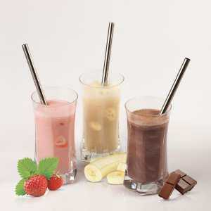 Hình thu nhỏ 4pcs Metal Stainless Steel Drinking Straws &1pc Cleaner Brushes ( Antique White )