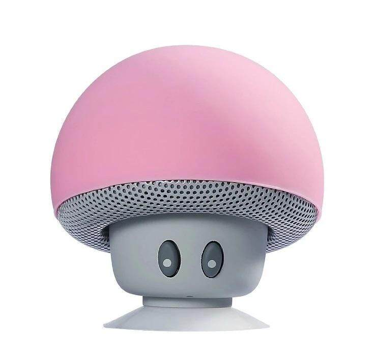 Mini Cute Mushroom Head Bluetooth Speaker Wireless Stereo Speaker with Suction Cup - intl
