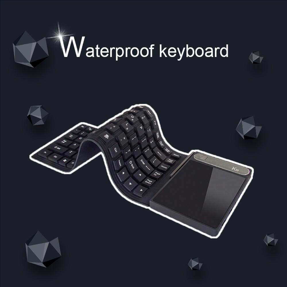 K8 Portable Mini Computer PC Laptop With Waterproof Keyboard, 4GB RAM, 64GB ROM, Windows 10 System Black
