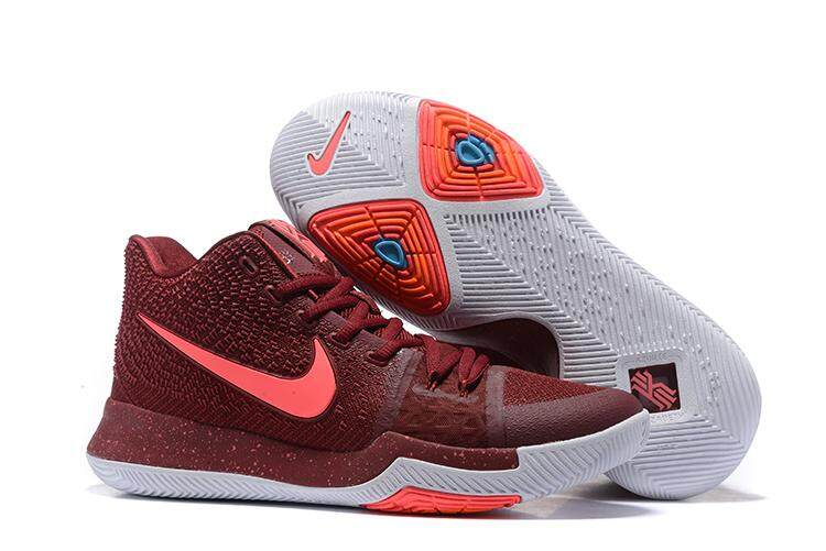 Nike Men s Kyrie 3 Basketball Shoe Performance Sports Shoes (Wine ... 2fca6f7083