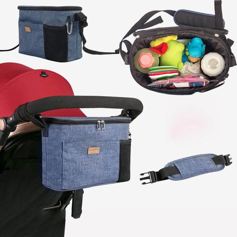 นี่คืออันดับ1 Unbranded/Generic อุปกรณ์เสริมรถเข็นเด็ก รถเข็นเด็กเดินวิ่งกระเป๋าเครื่องสำอางถุงผ้าอ้อมถ้วยผู้ถือสายคล้องไหล่พื้นที่จัดเก็บพิเศษ - INTL ของแท้ ส่งฟรี