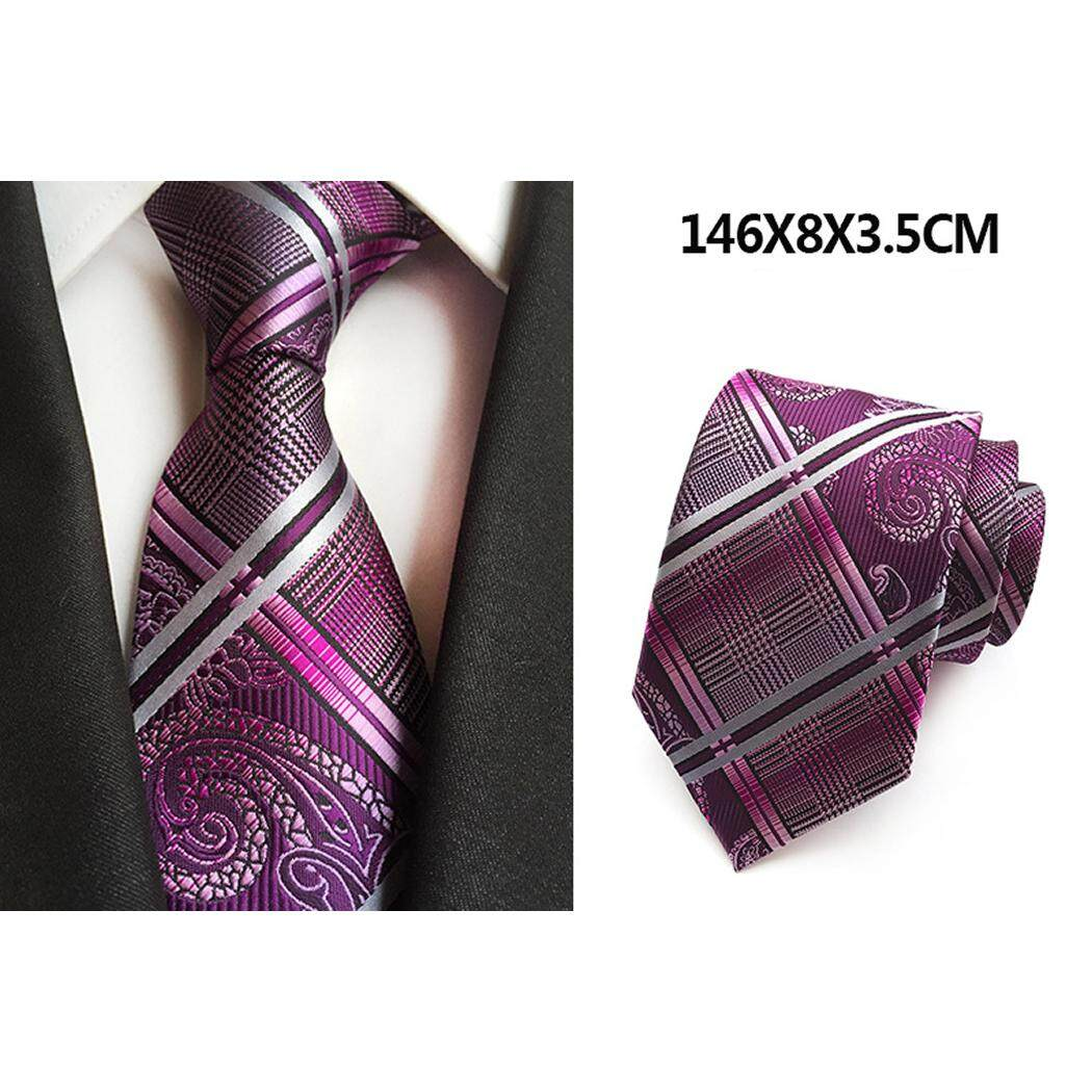 Fashion Men's Stripe Tie High Quality Silk Neckties Formal Gentleman Polyester Business Wedding Suit Ties