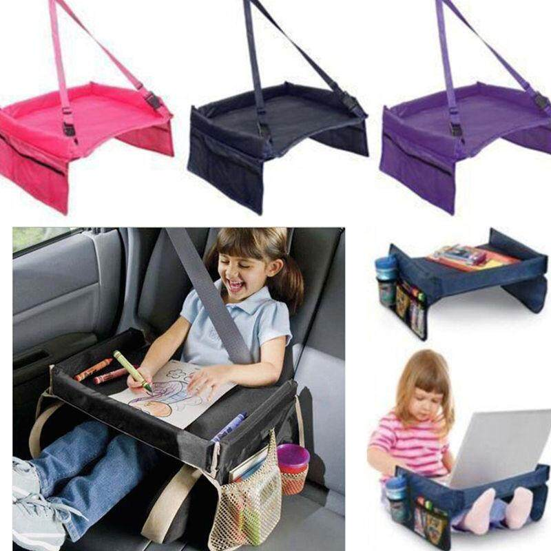 Waterproof Portable Children Table Sofa Car Seat Tray Storage Infant Stroller Holder Children Kid Baby Rattles Booster Seats