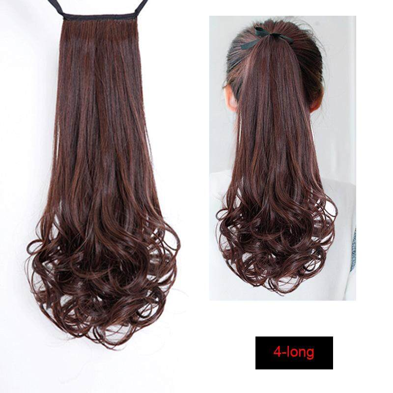 Drawstring Curly Wig Ponytail Heat Resistant Hairpieces Natural Clip In Hair Extensions - intl image