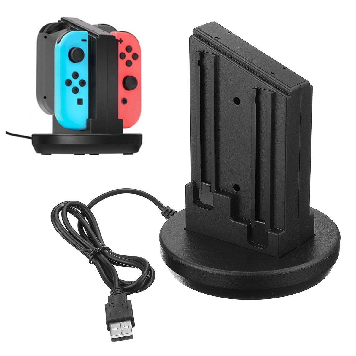 4 in 1 Charging Stand Game Handles Charger for N-Switch Joy-Con Handle Black - intl
