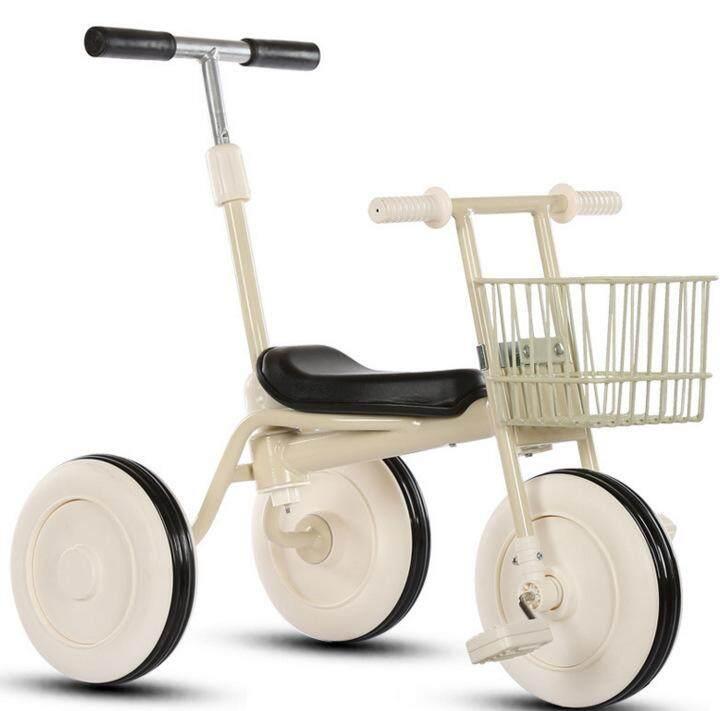ถูกสุดๆ รถเข็นเด็กสามล้อ Japanese Minimalist Children Tricycle with Storage Basket (RED)Portable Baby Strollers Rubber Child Tricycle Trolley Baby Stroller Baby Carriage Bike Bicycle ของแท้ เก็บเงินปลายทาง ส่งฟรี