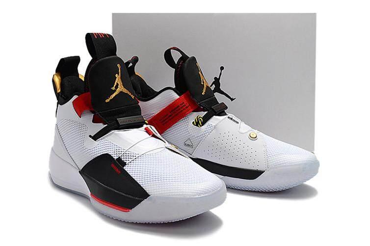 7bcdc6f018b500 Nike Mens Basketaball Shoe Air Jordan 33 White Red Sneakers AJ Air Jordan