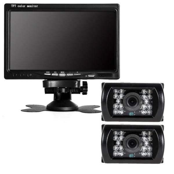 Toead 2*IR Reverse Camera + 7 LCD Monitor Car Rear View Kit for BusTruck