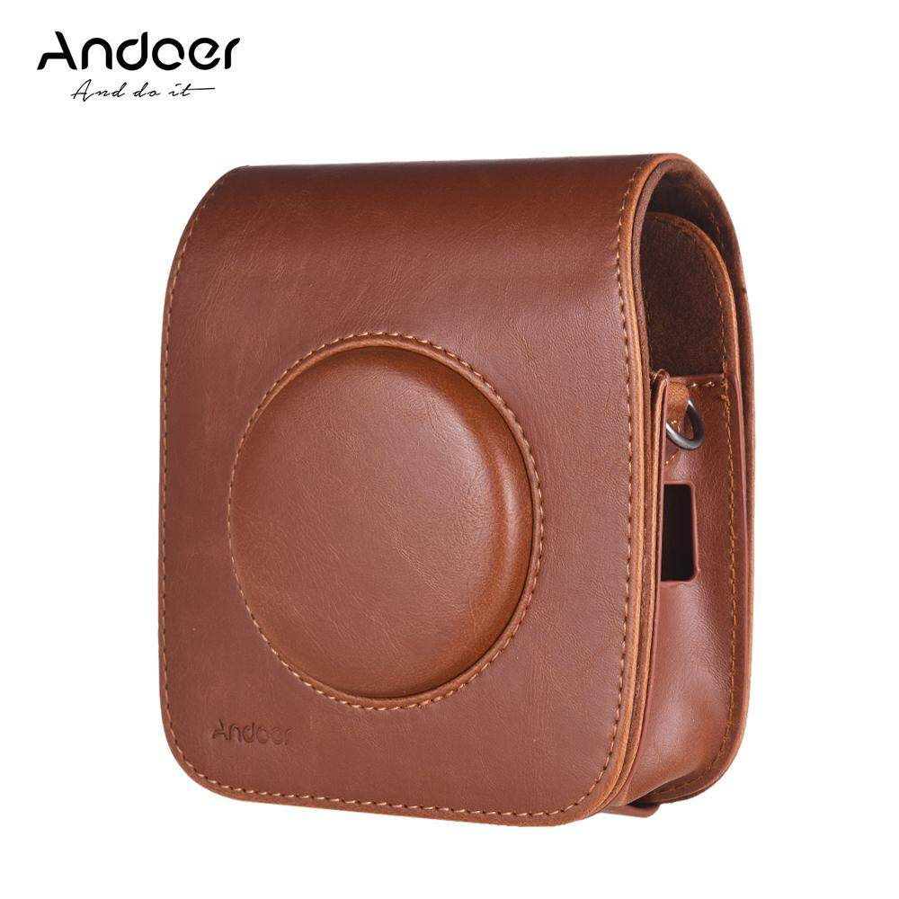 Andoer SQ10 Camera Case Bag PU Leather Protection Camera Bag with Adjustable Shoulder Strap for Fujifilm Instax SQ10 Camera 3 Colors for Option
