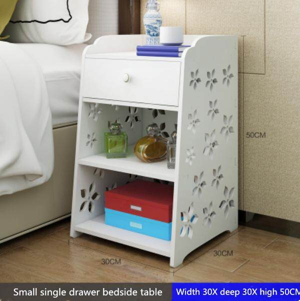 Simple bedside table simple modern bed cabinet storage small cabinet assembly locker dormitory bedroom assembly bedside cabinet