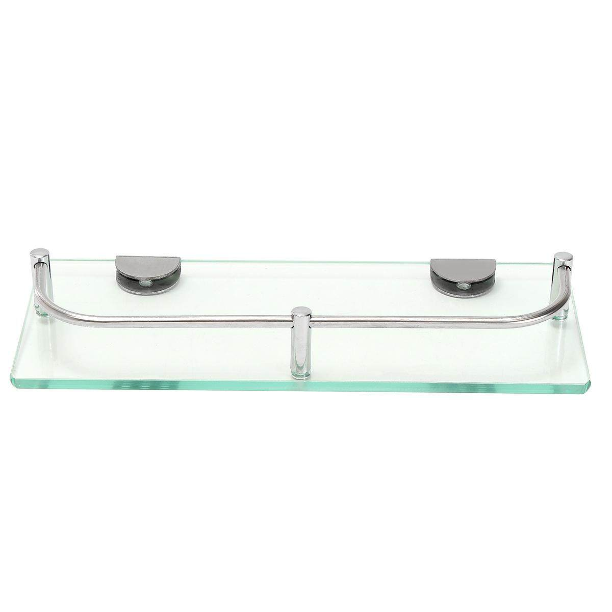 Modern Glass Corner Holder Rectangle Shelf Wall Mounted Bathroom Shower Storage [28.5cm]   Lazada