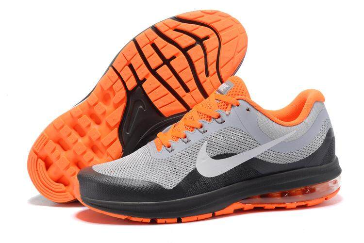 5253b17a170 Nike Men s Air Max Dynasty 2 Breathable Running Shoes Fashion Sneakers  (Grey Orange)