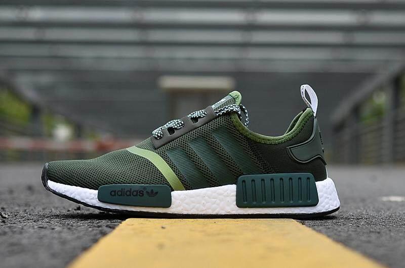 Adidas Men s NMD Runner Boost Running Sneaker Fashion Sports Shoes (Green) 681e81c5f3