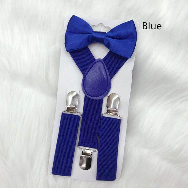 Braces for children suspenders With Bowtie Bow tie Set Matching Ties Outfits Suspender Girl Boys Adjustable Elasticated Braces