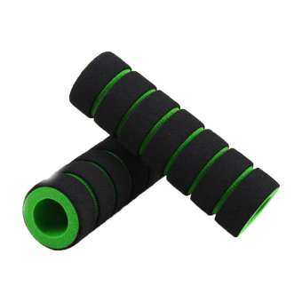 1 Pair Mountain Bike Anti-skid Soft Sponge Handle Bar Grips Cover Multi-color-