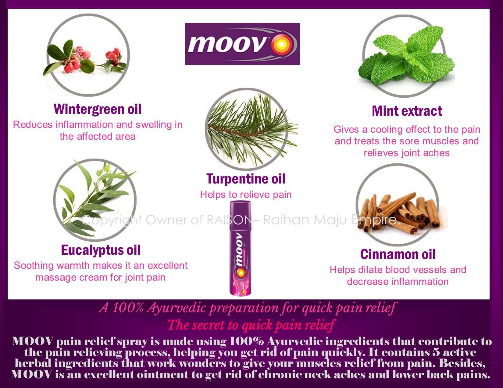 MOOV PAIN RELIEF SPECIALIST SPRAY 80gm