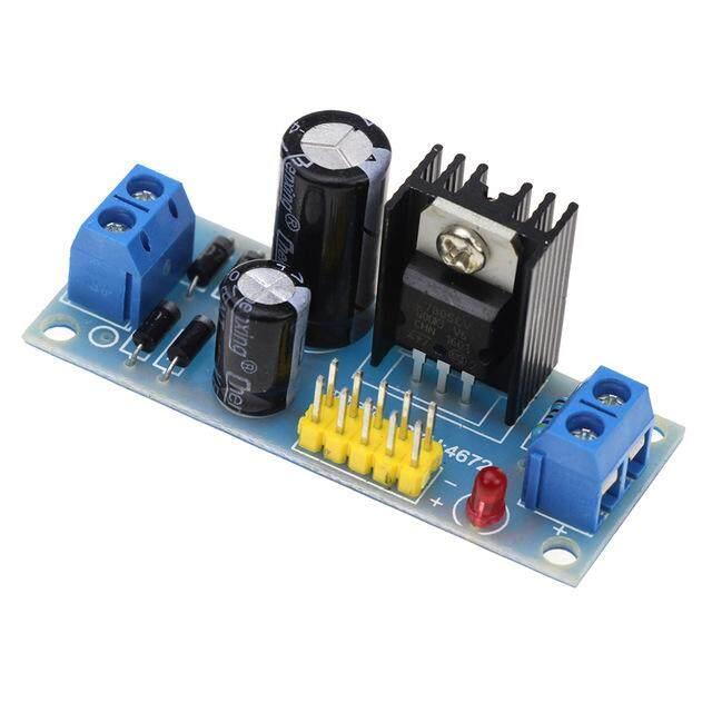 2Pcs L7805 LM7805 Three Terminal Voltage Regulator Module 5V For Arduino q