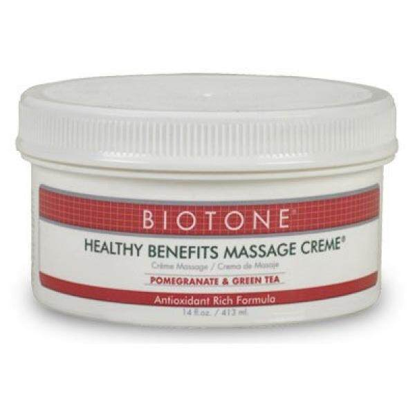 Biotone Healthy Benefits Massage Therapy Products Creme, 14 Ounce