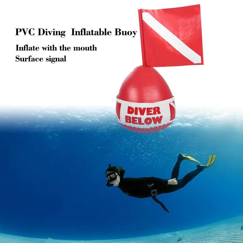 Mnyy PVC Menyelam Surface Marker Inflatable Sinyal Floater Menyelam Bouy Bola dengan Bendera