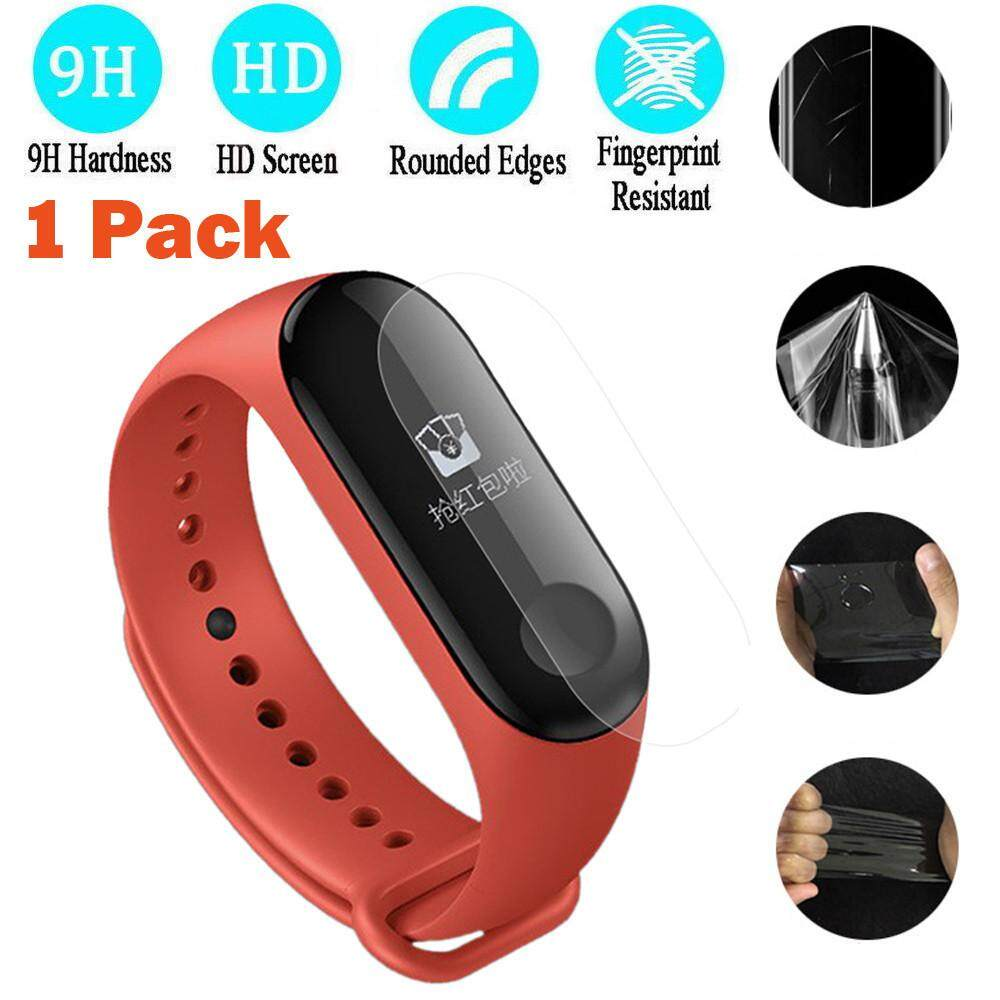 Qyshop 1PC Tempered Screen Full Cover Screen Protector Film For Xiaomi Mi Band 3