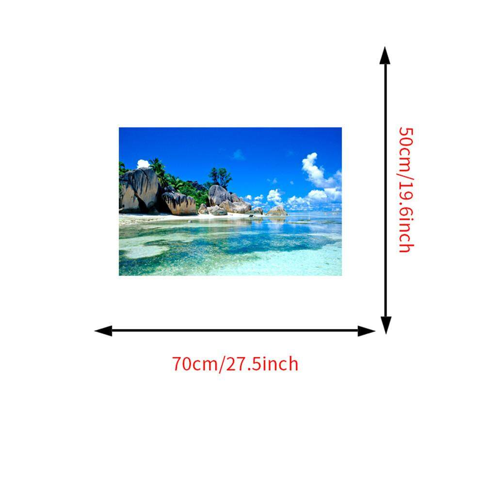 Hotilystore 3D Wallpaper Bedroom Living Mural Beach Sea Island Landscape Modern Wall Sticker