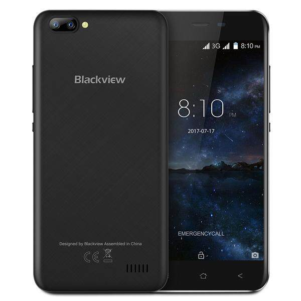 Blackview A7 5.0-Inch Android 7.0 1GB RAM 8GB ROM MT6580A Quad-Core 1.3GHz 3G Smartphone - intl