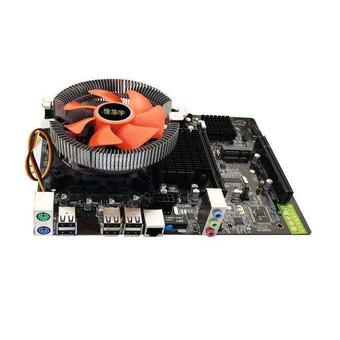 X58 Desktop PC Motherboard Quad-core E55400 CPU + 8G Memory + Mute Fan