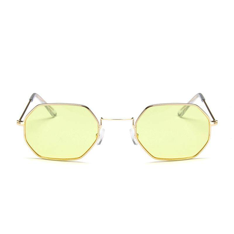 yiuu Fashion Small Square Sunglasses Retro Street Shoot Sunglasses Men and Women Transparent Ocean Piece Sunglasses - intl