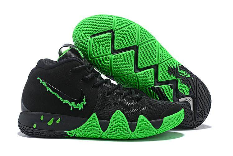 newest collection 3af62 3a5f0 Nike Official Kyrie Irving 4 Discounted MENS Basketaball Shoe Black Green  Fashion Shoes