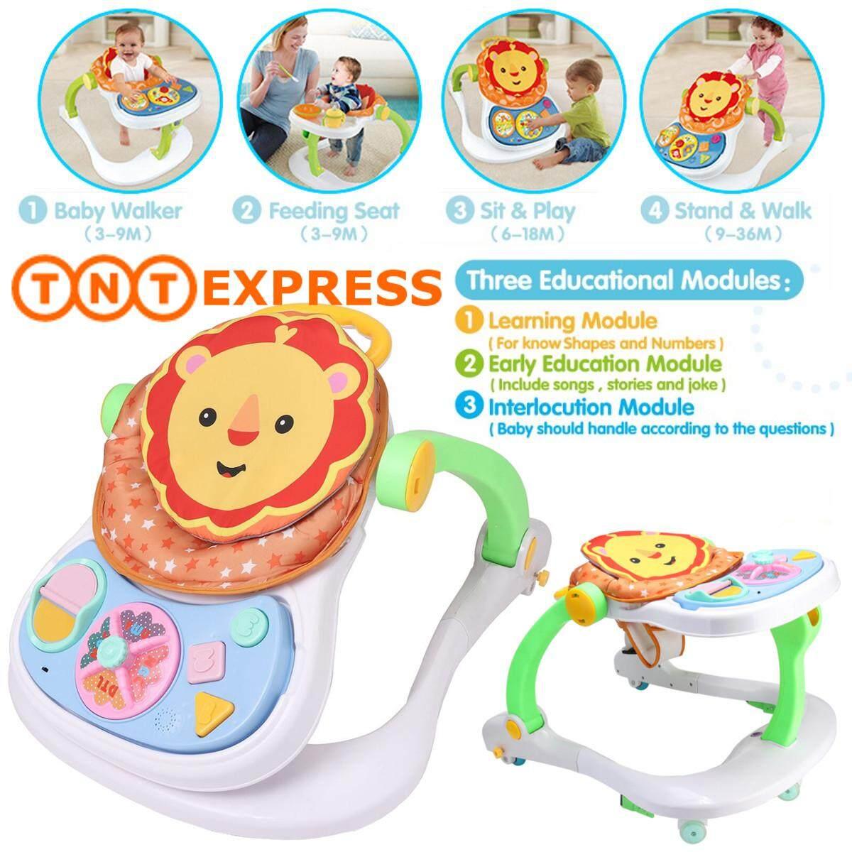 4 in 1 Multi Functional Entertainer Baby Walker Toddler Kids Educational Walk Tool Gifts