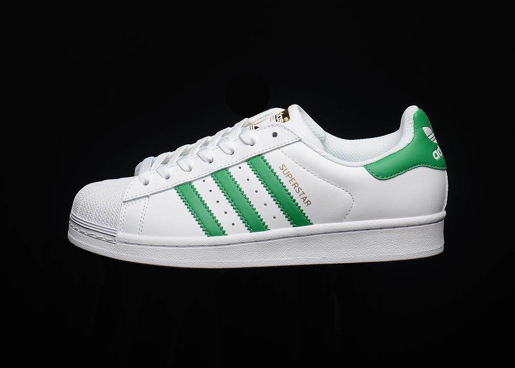 Adidas Originals SuperStar Men s Comfortable Running Shoe Fashion Casual  Sneakers (White Green) 2dae82d3f6