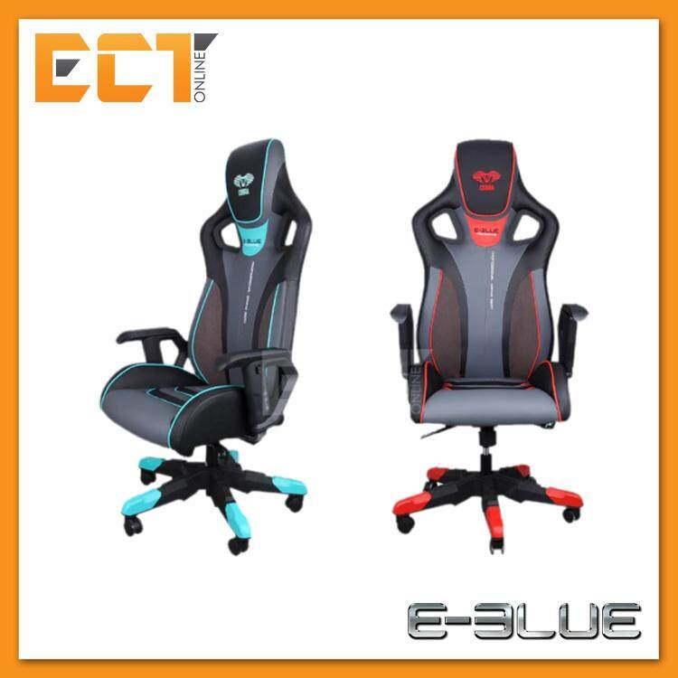 E-Blue EEC313 Cobra III PU Leather & Suede PC Gaming Chair (Red/Blue)