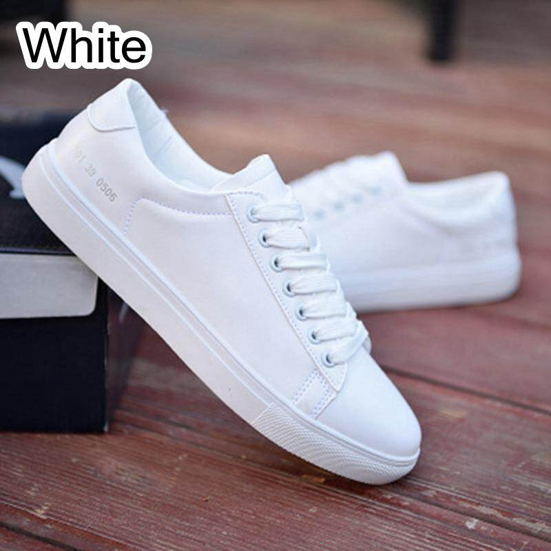 Fashion Breathable Casual Athletic Sneakers PU Leather Men Running Sports Shoes