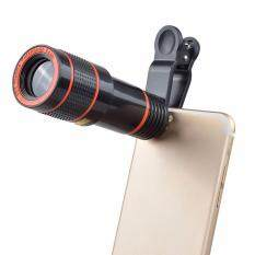 Clip-on 12x Optical Zoom HD Telescope Camera Lens For Universal Mobile Phone Black – intl