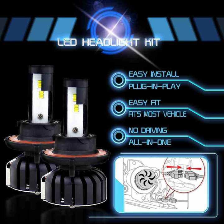 Lissng 2 Pcs Mobil Lampu LED Kit H13 200 W 20000LM 6000 K Bohlam LED Terang Lampu 300% Lebih Terang dari Tradisional Lampu Halogen