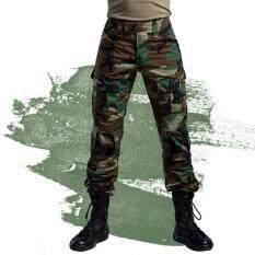 2017 BÁN Hàng Hóa quần Ngụy Trang chiến thuật quân đội quần chiến đấu multicam militar chiến thuật quần có miếng lót đầu gối XL (Đen) -quốc tế