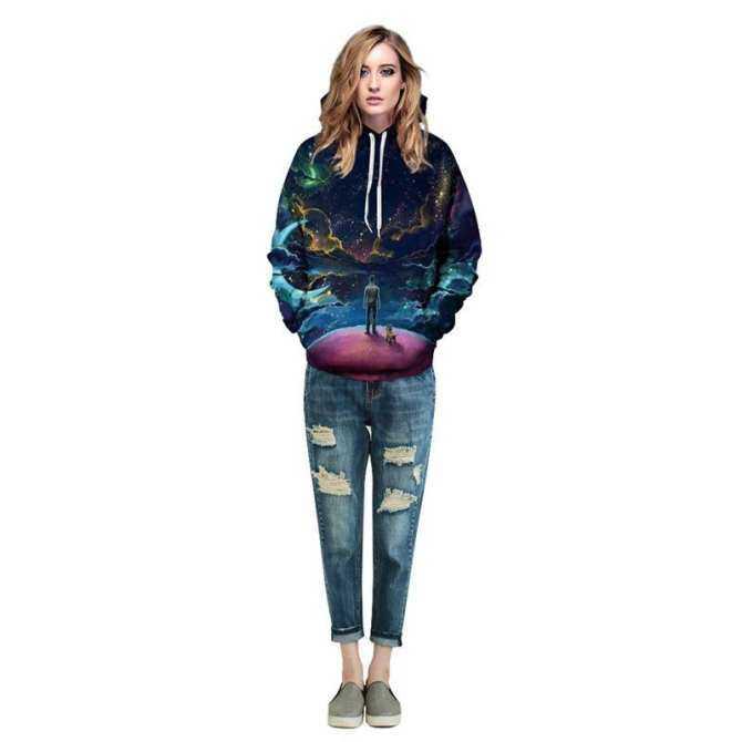 Pria Wanita Mode Terkini Warna-warni Awan Langit Hoodie S Kaus 3d Cetak  Orang 66acc594da